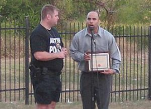Michael Youngs with NACA President Anthony Williams at the 2008 March on Rundberg